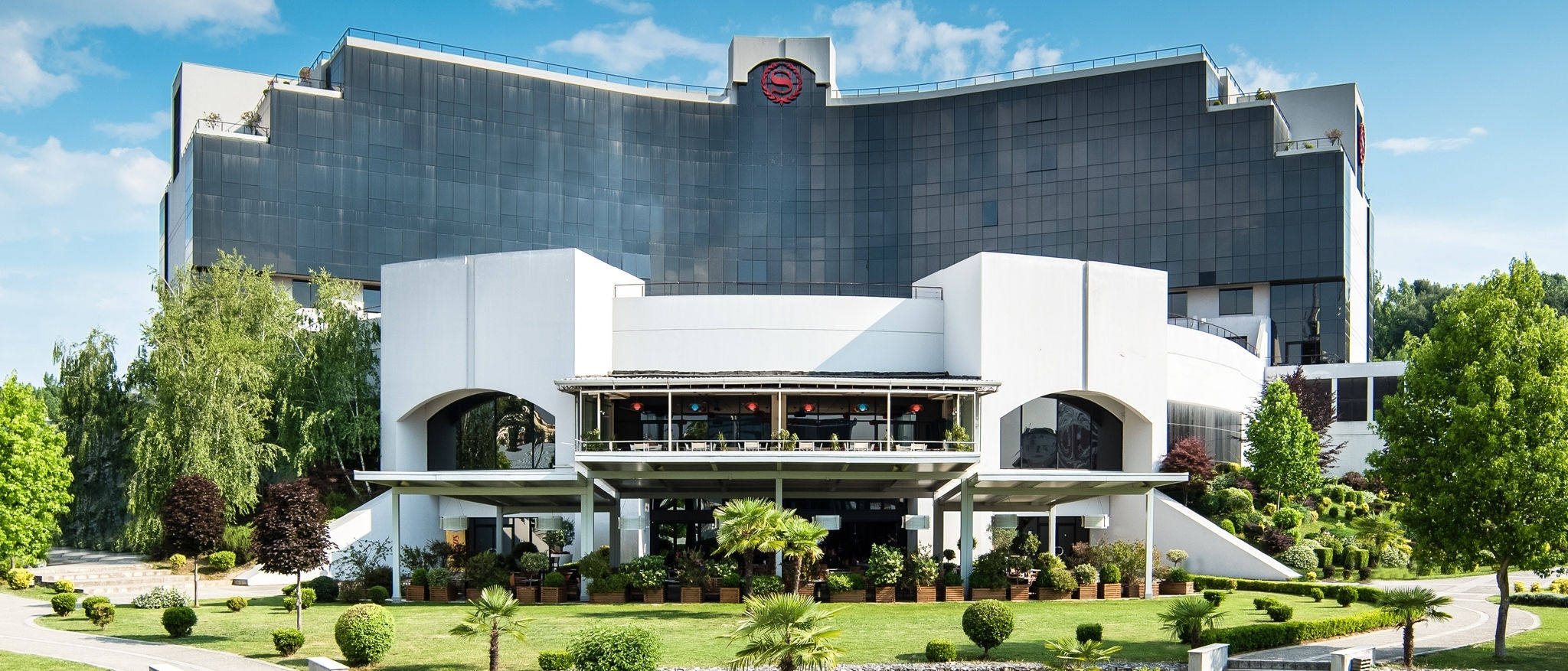 Exterior of Sheraton Tirana Hotel located in the heart of Tirana in Albania